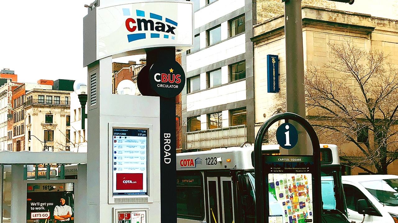 CMAX COTA - COTA Central Ohio Transit Authority viewstation lcd enclosure