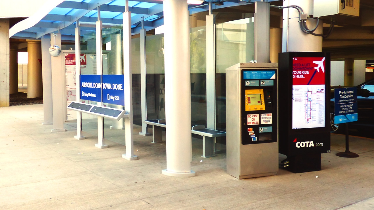 COTA - John Glenn Columbus International Airport - ViewStation ITSENCLOSURES outdoor lcd enclosure bus stop.jpg