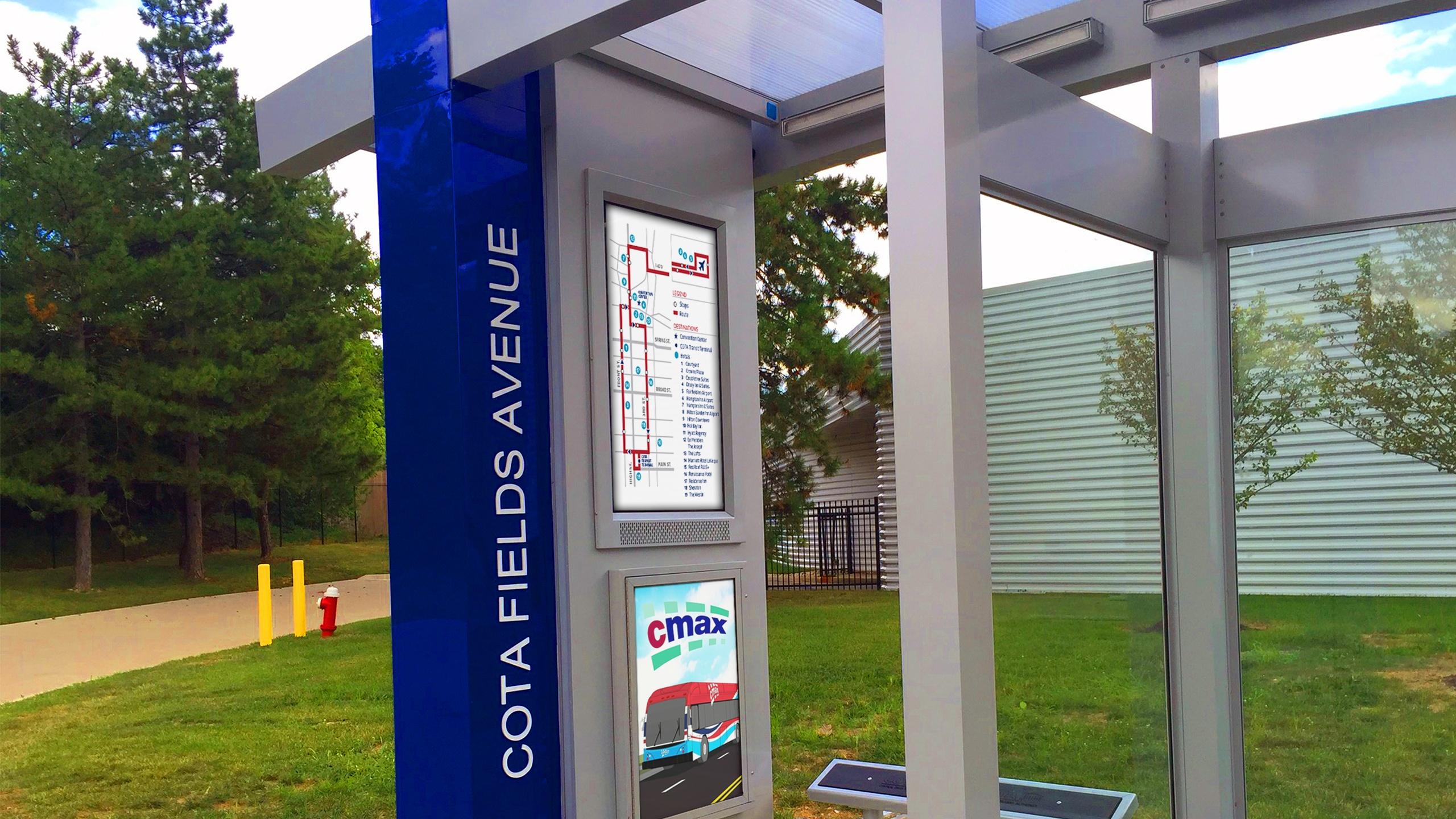 COTA Central Ohio Transit Authority Bus Stop ITSENCLOSURES LCD Enclosure digital signage.jpg
