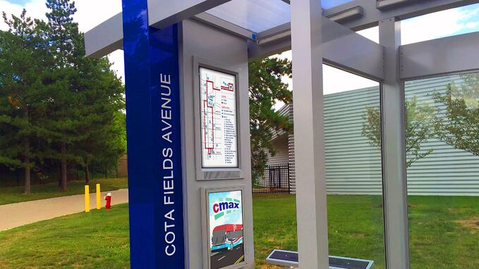 COTA Central Ohio Transit Authority Bus Stop ITSENCLOSURES LCD Enclosure digital signage.jpg