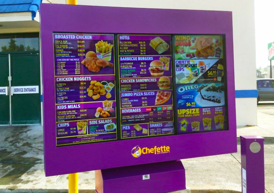Chefette Restaurants QSR Outdoor Digital Menu Boards ViewStation ITSENCLOSURES.jpg