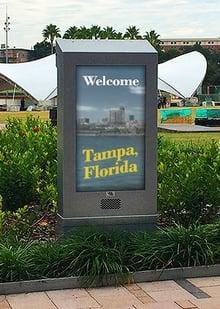 Curtis Hixon Waterfront Park Tampa Bay Florida LCD Enclosure ITSENCLOSURES
