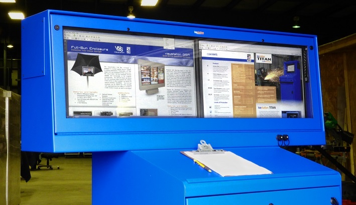 IceStation TITAN Hammerhead Dual Monitor PC Computer Enclosure ITSENCLOSURES.jpg