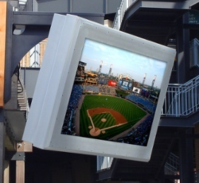 Outdoor LCD Enclosures by ITSENCLOSURES installed at US Cellular Field