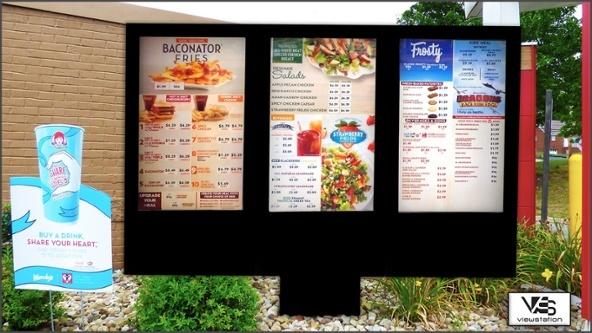 Outdoor Digital Menu Board by ITSENCLOSURES