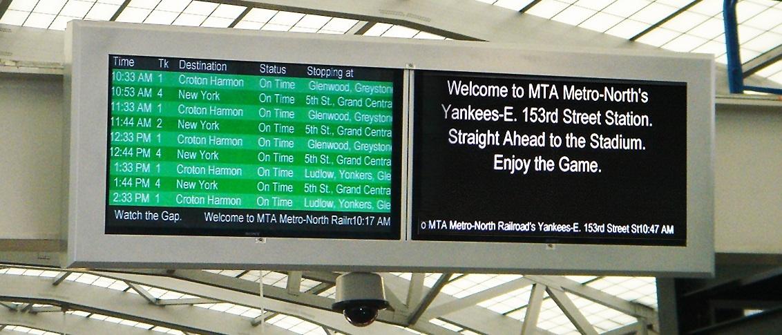 metro north yankees stadium station viewstation lcd enclosures itsenclosures
