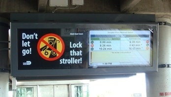 Outdoor LCD Enclosures by ITSENCLOSURES installed at Miami DADE Transit