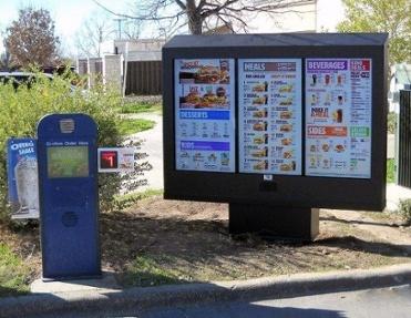outdoor digital menu board installed in Burger King by ITSENCLOSURES
