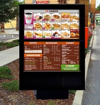 ITSENCLOSURES outdoor digital menu board for QSRs